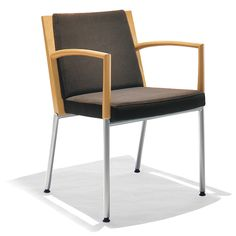 Adagiato   Kimball Office - typical side arm chair option 1 (wood finish & fabric TBD)