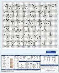 Resultado de imagen de alphabet back stitch patterns