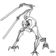 Star Wars Droids, Star Wars Jedi, Star Wars Art, War Comics, Anime Comics, Star Wars Desenho, Drawing Stars, Star Wars Drawings, Star Wars Concept Art