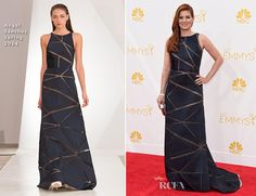 Debra Messing attended the 2014 Emmy Awards, held on Monday (August 25) at the Nokia Theatre L.A. Live in Los Angeles, California. One of the evening's pre
