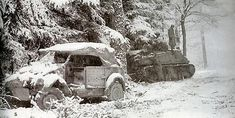 A VW Type 82 abandoned during fighting in the Ardennes late 1944