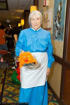 Sophie Hatter and Calcifer #cosplay   Anime Los Angeles 2015 - Saturday