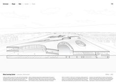 """Studying the """"Manual of Section"""": Architecture's Most Intriguing Drawing,Rolex Learning Center by SANAA (2010). Published in Manual of Section by Paul Lewis, Marc Tsurumaki, and David J. Lewis published by Princeton Architectural Press (2016). Image © LTL Architects"""