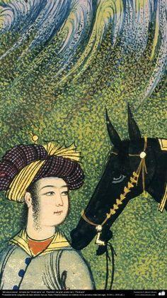 """Miniatura persa, tomado del """"Shahname"""" ed. """"Rashida"""" del gran poeta iraní, """"Ferdowsi"""". (4)"""