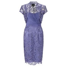 Buy Adrianna Papell Lace Iridescent Lace Dress, Wisteria Online at johnlewis.com