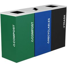 **Kaleidoscope Three-Stream Recycling Container
