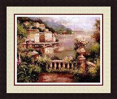 Here you will find some of the best home  wall art décor around.  You will find #travel  #wall# art, #landscape wall art, #fantasy home wall art décor, animal wall art  home #décor, love wall art and so much more.   All beautiful, trendy and charming accents for your home.      'PRELUDE TO SUMMER' Coastal City Floral Garden Double Mat art FRAMED PRINT - Peter Bell 34x40