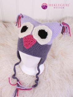 Uglelue oppskrift til flere størrelser - Hekleguri Design Crochet Hats, Design, Fashion, Threading, Pictures, Knitting Hats, Moda, Fashion Styles