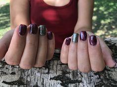 #purple #nail #gloss #love #cateye #autumn Nailart @h.gabriella_nails ❤️💅🏻💋