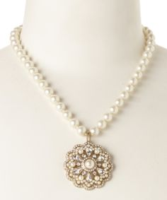 """pearl & crystal pendant necklace. """"That is a lot of clams we will have to open."""" I guess I should tell her we get them from oysters....."""