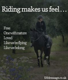 Riding makes us feel superhuman :) http://shdressage.co.uk/competition/riding-reflections-of-2012-what-am-i-proud-of-this-year