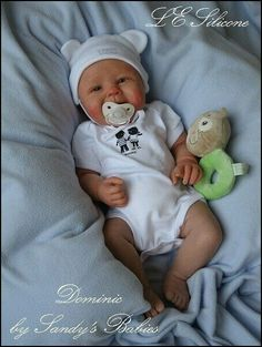 Full Body Solid Silicone Realistic Baby Doll Sculpted
