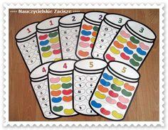 Kolorowe fasolki - dekodowanie, kolory, sprawność manualna Beans in the jar - decoding, colours, motor skills, game for kids