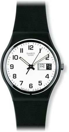 Swatch Womens GB743 Once Again Black Plastic Watch >>> Find out more about the great product at the image link.Note:It is affiliate link to Amazon. #success