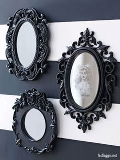 DIY spooky Halloween Mirror | NoBiggie.net - learn how to make this spooky Halloween mirror with things you probably have around the house.