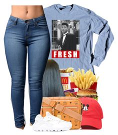 """fяєѕн ρяιи¢є "" by blvsiian ❤ liked on Polyvore featuring Forever 21, MCM and NIKE"