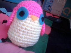 Amigurumi Pink Owl Handmade Crochet Owl Plush by OwlPudding, $10.00