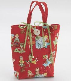 Whip up a reusable gift bag with just two fat quarters.
