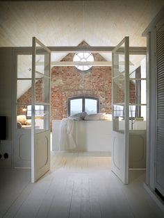 The Sheer Beauty of Brick Tiles Bathroom Ideas You Need to Know - Interior Remodel - Exposed Brick Bathroom – Wall Small Chimney Toilets Subway Tiles Sinks Living Rooms Accent Walls - House Of Mirrors, Brick Tiles Bathroom, Bathroom Tile Designs, Bathroom Wall, Attic Bathroom, Room Tiles, Bathroom Interior, Bathroom Ideas, Shower Tiles