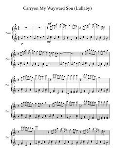 Carryon My Wayward Son (Lullaby) | MuseScore.com