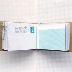 Mail Book  Recycled Paper Notebook  Mail Art by badbooks on Etsy, $18.00