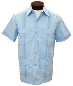 26ddfa49 Men's D'Accord 2267 Guayabera Shirt-Lt. Blue Mens Guayabera Shirts, Light