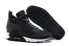 Sklep Nowa Nike Air Max 90 Sneakerboot Męskie Buty Czarny Biały z bezpiecznej wysyłki