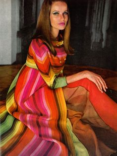 Veruschka in Valentino.  Photo: Henry Clark, 1966.