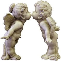 Líbající se andílci Garden Sculpture, Statue, Outdoor Decor, Art, Angel, Art Background, Kunst, Performing Arts, Sculptures