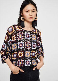 Cotton crochet sweater