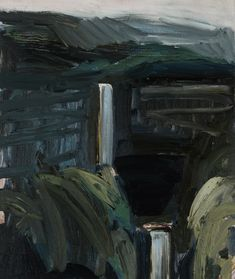 Belmore Falls study 2013 oil on linen 60 x 50 cm