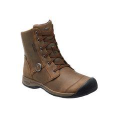 Women's Keen Reisen Zip Waterproof Ankle Boot - Belgian Casual ($160) ❤ liked on Polyvore featuring shoes, boots, ankle booties, casual, waterproof boots, zippered ankle booties, water proof hiking boots, block-heel boots and waterproof booties