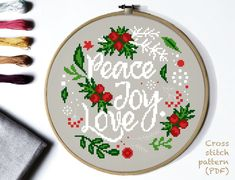 Christmas Modern cross stitch pattern. Easy counted cross stitch chart, xstitch, punto croce, embroidery, point de croix, Sticken im Kreuzstich. Original cross stitch pattern designs. Use coupon VLADA30 when you buy 3 or more patterns from my shop to get 30% off! This is INSTANT DOWNLOAD PDF. Cross stitch pattern will be available for instant download once payment is confirmed. Fabric: Aida 14 count Size: 98 x 98 Stitches Dimension (Aida 14): 7 inches (17.8cm) wide, 7 inches (17.8cm) high DMC Co Easy Cross, Simple Cross Stitch, Cross Stitch Flowers, Cross Patterns, Modern Cross Stitch Patterns, Cross Stitch Designs, Loom Patterns, Cross Stitch Christmas Ornaments, Christmas Cross