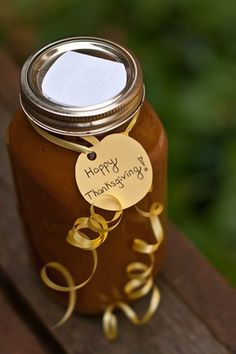 Homemade pumpkin butter with apple juice, spices, and lemon. Fun Thanksgiving or holiday gift!