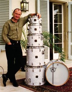 Phil Collins the Drummer Legend: The reason I took up drumming in the first place :) Phil Collins, Steve Gadd, Sheila E, Mike Rutherford, Gretsch Drums, Vintage Drums, Drum Lessons, Drummer Boy, How To Play Drums