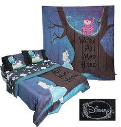 Alice in Wonderland blanket.