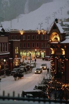 Leavenworth, Washington. This shot makes me want to walk in the snow on that exact street...