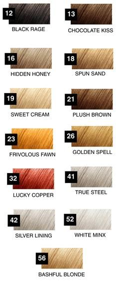 20 Best Hair Color Swatches Images On Pinterest Hair Color