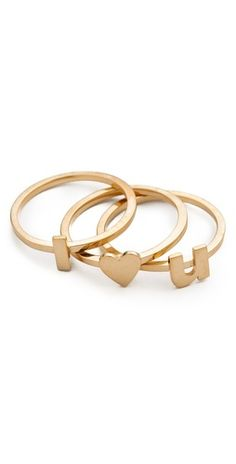 ''i heart you'' rings