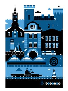 Art prints illustrate Europes great cities : TreeHugger