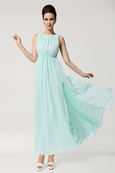 $21 Open Back Scoop Neck Sleeveless Chiffon Bohemian Style Solid Color Women's Maxi-DressMaxi Dresses | RoseGal.com