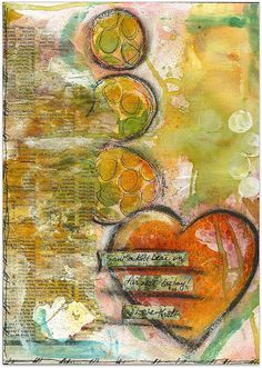 I LOVE THAT Art Journal Page by Robes-Pierre, via Flickr