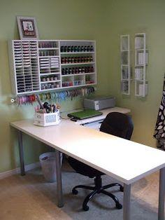 Scrapbook Room Organization: New Ribbon Organization & Room Redo