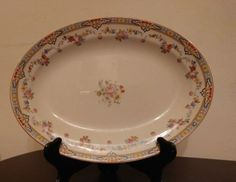 W.H. Grindley England Dresden Platter Tray Country Cottage Decor #WHGrindley