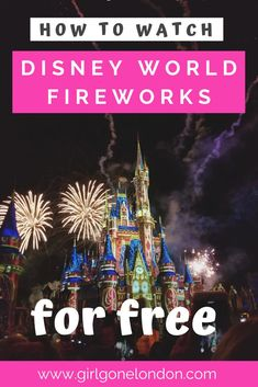 You don't have to pay to see fireworks at Disney World. Check out where to watch fireworks outside the parks at Disney World for free for a magical evening. Disney World Fireworks, Travel Advice, Travel Guides, Travel Tips, Travel Abroad, Disney World Tips And Tricks, Disney Tips, Disney Food