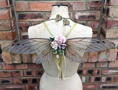 The beauty of Magic and Faerie Wings created by the ethereal touch of Undertheivy2.  Enchantment!  Beautiful wearable Faerie Wings by UndertheIvy2 on Etsy, £145.00