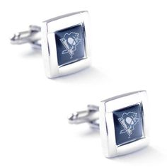 PITTSBURGH PENGUINS CUFFLINKS SQUARE WEDDING GROOM GIFT