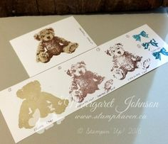 3 step stamping - Brown colour combination using Baby Bear stamp set - Stampin' Up! - Margaret Johnson - Canadian Independent Stampin' Up! Demonstrator