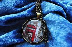 Vintage Bronze Halskette + Foto London Westminster