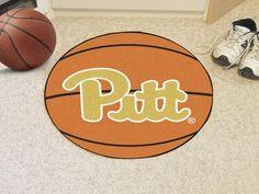 "University of Pittsburgh Basketball Mat 27"""" diameter"